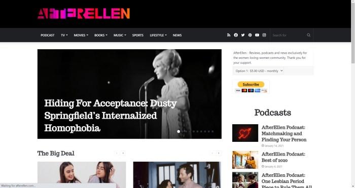 AfterEllen website