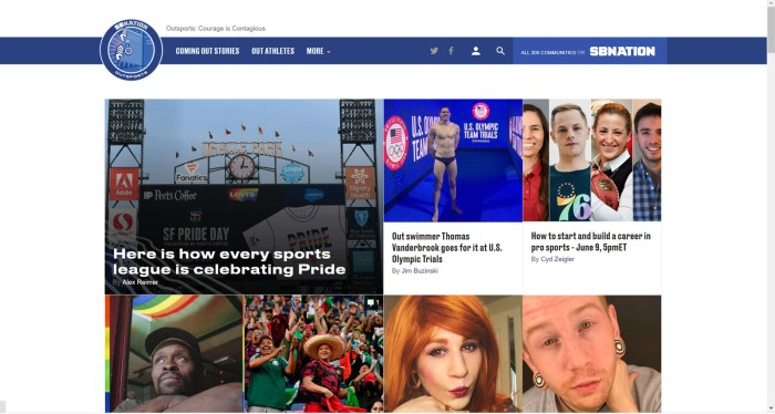 Outsports news site