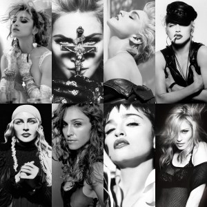 Madonna black and white photo collage