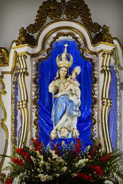 Imagem de Nossa Senhora da Graça, trazida pelos espanhóis.