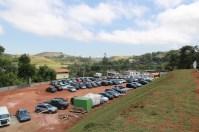 Apesar do elevado número o estacionamento tinha capacidade de receber mais carros