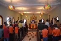 Missa na capela da residência dos Arautos em Campos dos Goytacazes