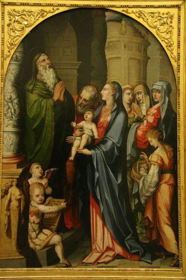Presentación del Niño Jesús en el Templo Luis de Vargas Museo de Bellas Artes- Sevilla