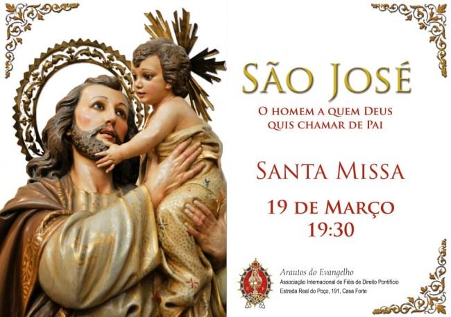 Missa na Solenidade de São José em Recife