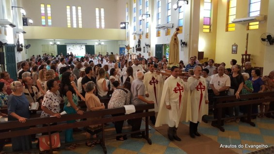 Missa na Paróquia de Nossa Senhora de Fátima, Olinda - PE
