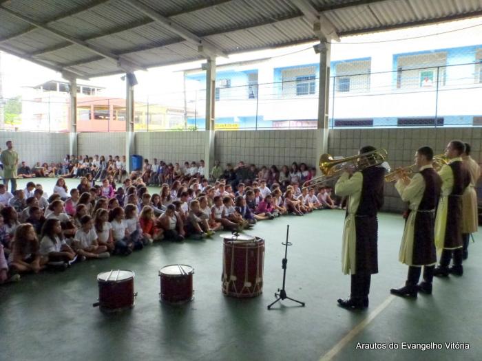 Apresentação dos Arautos do Evangelho no Colégio Atuante, Vitória