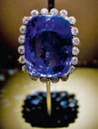 Safira de 423 quilates - Museu de História Natural - Washington