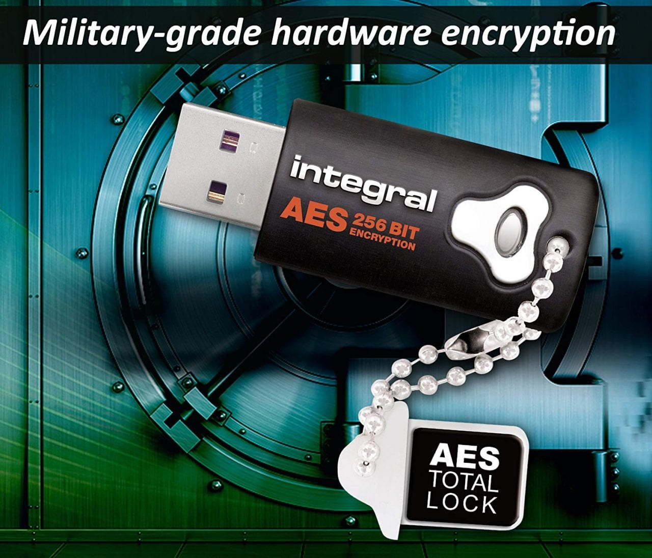 16GB Integral Crypto Drive FIPS 197 Encrypted USB3.0 Flash Drive AES 256-bit