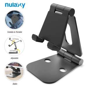 Nulaxy Foldable Tablet Phone Stand Compatible with Nintendo Switch Desk Holder for iPad Air Pro