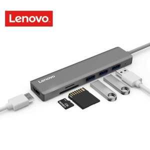 Lenovo USB C Hub, Ultra Slim Aluminum USB C Adapter With 3 USB 3.0 Ports