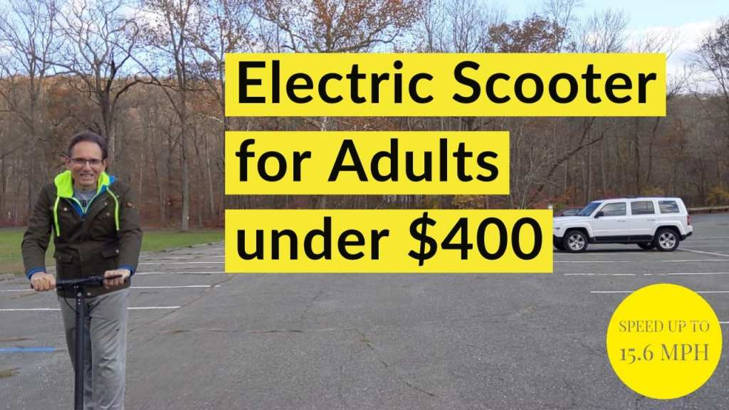 """Electric Scooter for Adults, Speed Up to 15.6 MPH, 8.5"""" Explosion-Proof Solid Tires, Two Speeds Adult Electric Scooter for Commute with Double Braking System,"""
