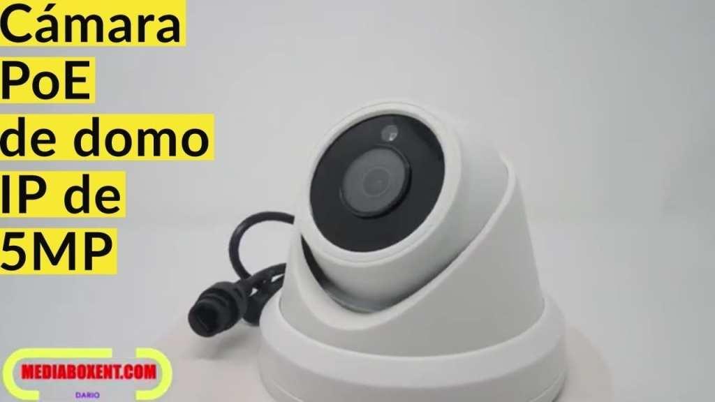Cámara PoE de domo IP de 5MP, (compatible con Hikvision) Super HD y ONVIF compatible con cámara de seguridad para exteriores, cámara resistente a la intemperie H.264,2592x1944 IP66, lente gran angular de 2.8 mm # IPC-D350