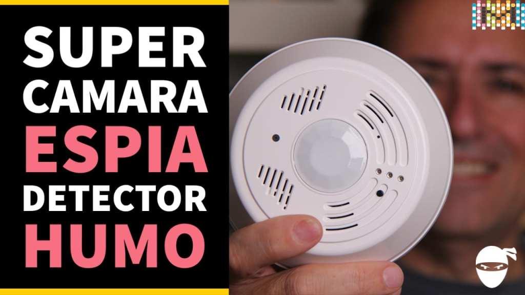 Detector de humo WiFi con cámara oculta