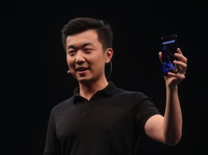 New Delhi: OnePlus Founder and CEO Pete Lau during the launch of OnePlus 6T in New Delhi on Oct 30, 2018. (Photo: IANS)