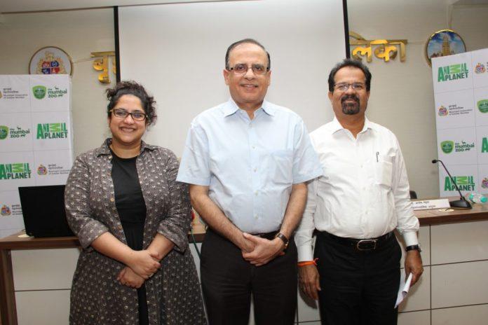 MCGM ties up with Animal Planet for 3D Theatre in Mumbai Zoo - Zulfia Waris, DCI_ Ajoy Mehta, MC_ Vishwanath Mahadeshwar, Mayor of Mumbai at the MCGM Press Conference