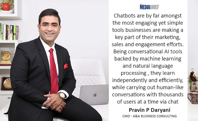 image-Blurb-Chatots-by-Pravin-P-Daryani---CMD---A&A-Business-Consulting---on-SMEs-and-Innovative-Tech-for-Business-salience-MediaBrief-exclusive