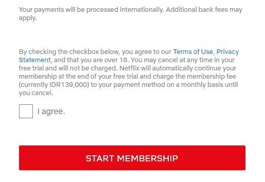 Start Membership Netflix