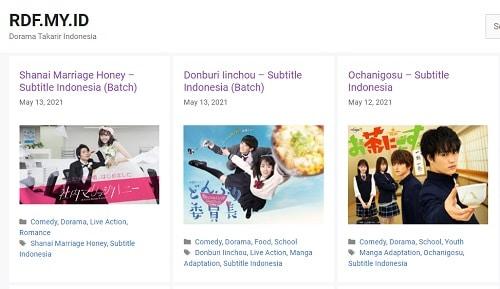 Situs download drama Jepang RDF