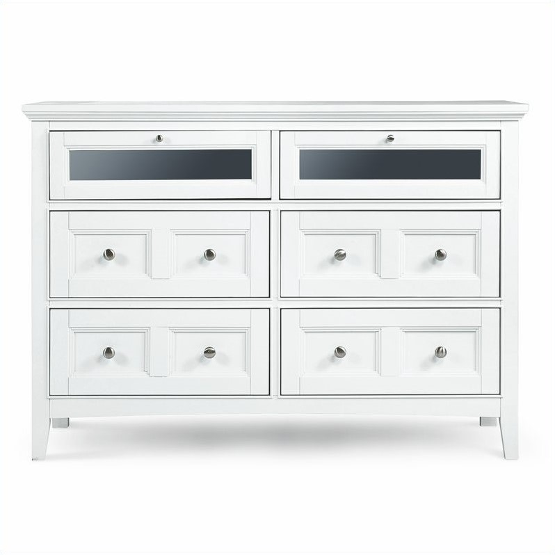 Magnussen Kentwood 6 Drawer Media Chest In Painted White