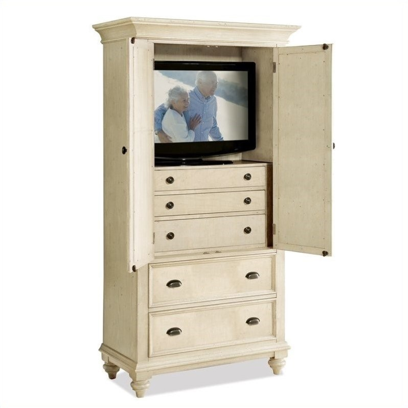 Riverside Furniture Coventry Two Tone Armoire In Dover