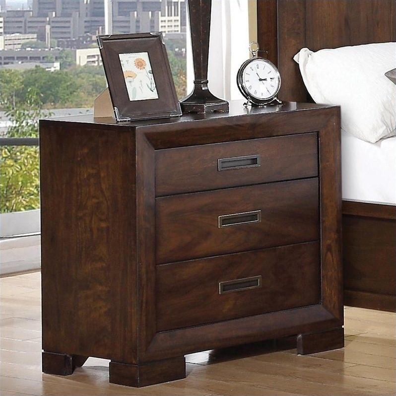 Riverside Furniture Riata Three Drawer Nightstand In Warm
