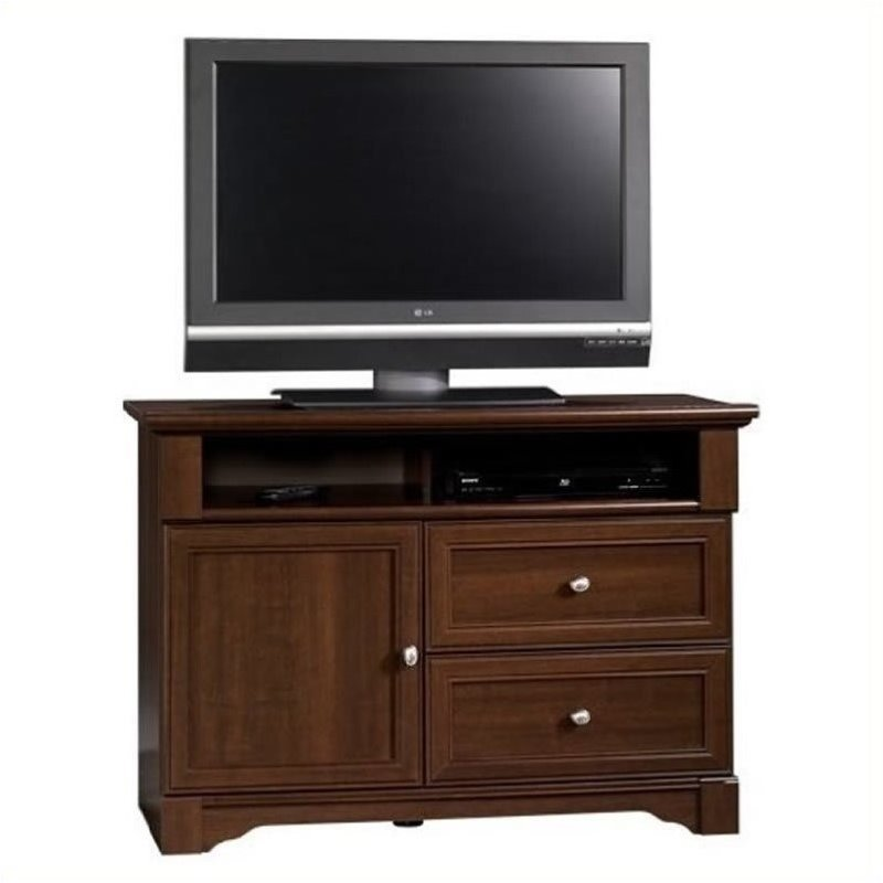 Pemberly Row Highboy TV Stand Select In Cherry Finish PR