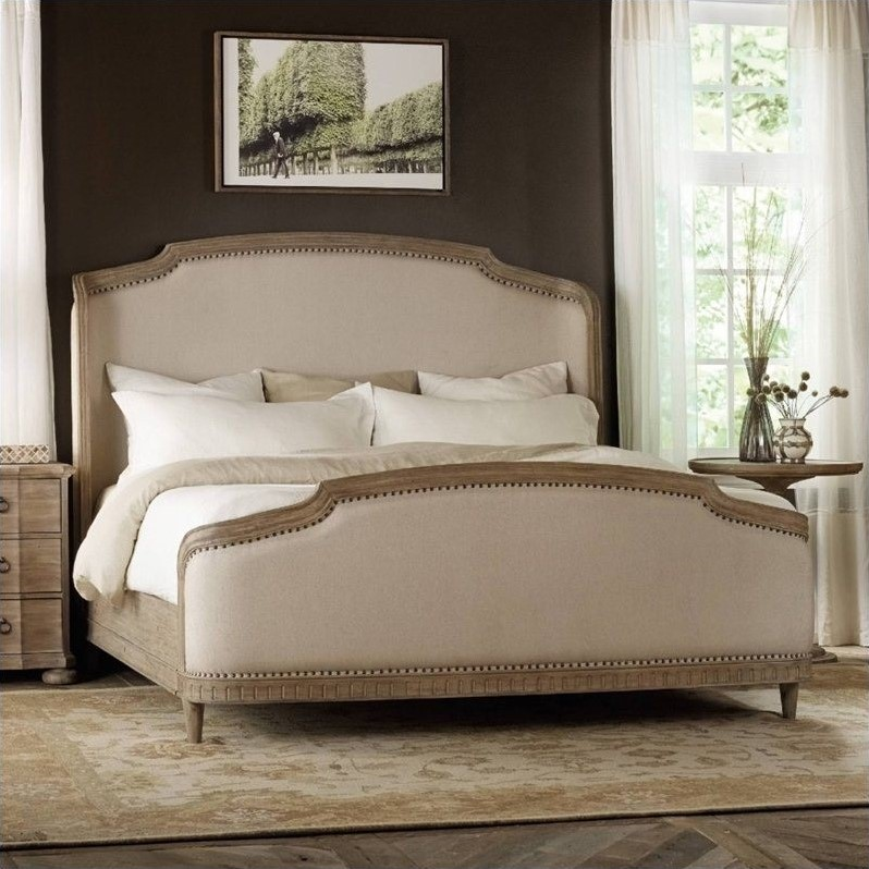 Hooker Furniture Corsica Upholstered Shelter Bed In Light