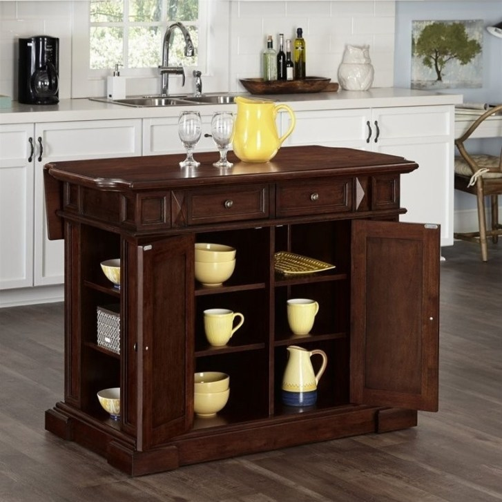 Furniture Kitchen Dining Carts Island Cherry