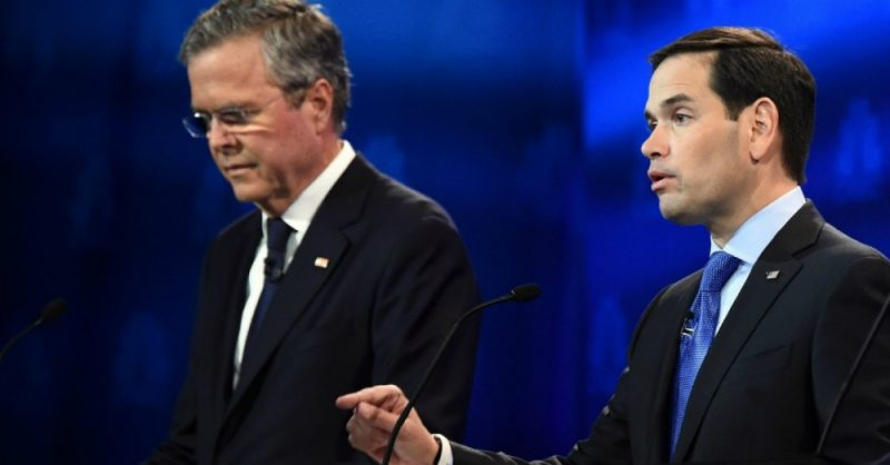 Jeb Bush and Marco Rubio