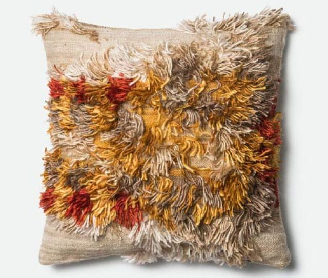 Loloi Camel And Sunset 22 Inch Pillow With Down Insert