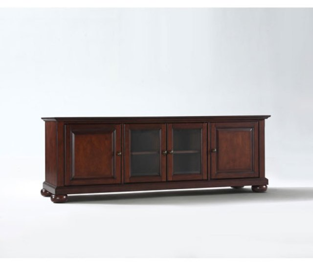 251 First Wellington 60 Inch Low Profile Tv Stand In Vintage Mahogany Finish