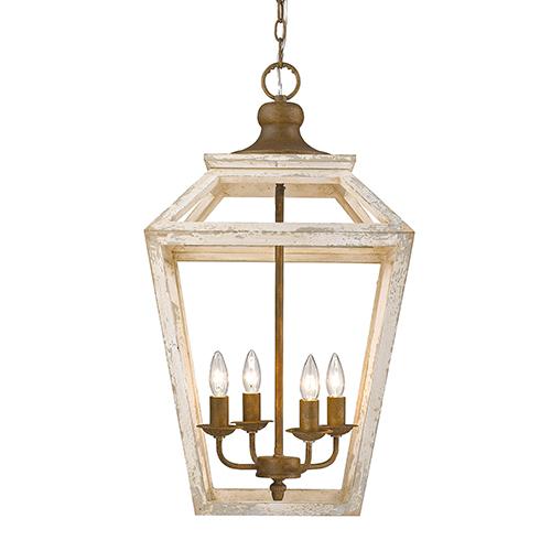 haiden burnished chestnut four light pendant