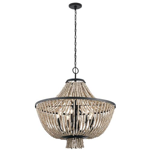 Black Chandeliers   500  Crystal  Wrought Iron   Mini Chandeliers In     Brisbane Distressed Black 30 Inch Eight Light Chandelier
