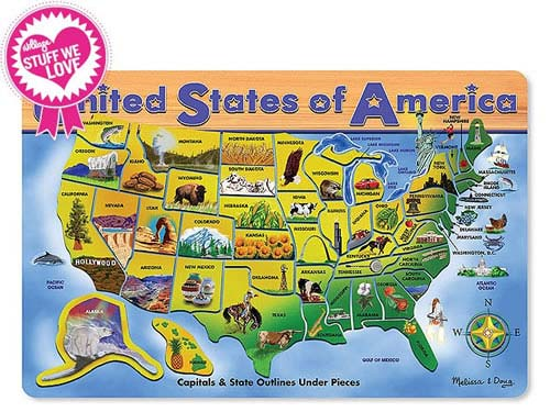 USA Wooden Map Puzzle $14.99