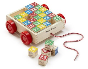 Classic ABC Block Cart from Melissa and Doug