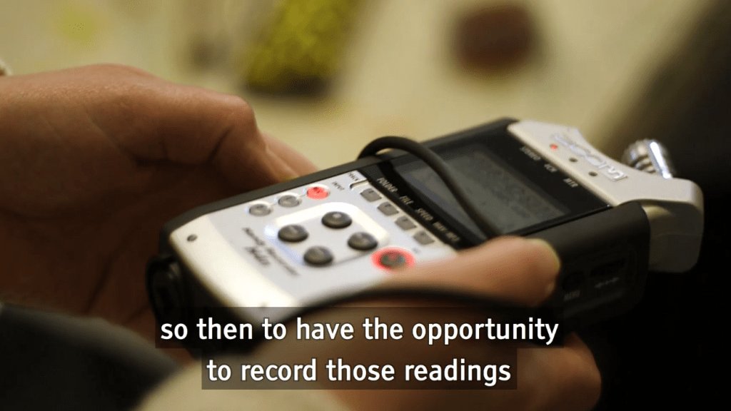 Audio recorder with the subtitles so then to have the opportunity to record those readings
