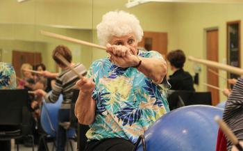 Watch Johnson County Seniors Drum To A Beat To Stay Alive Kcu