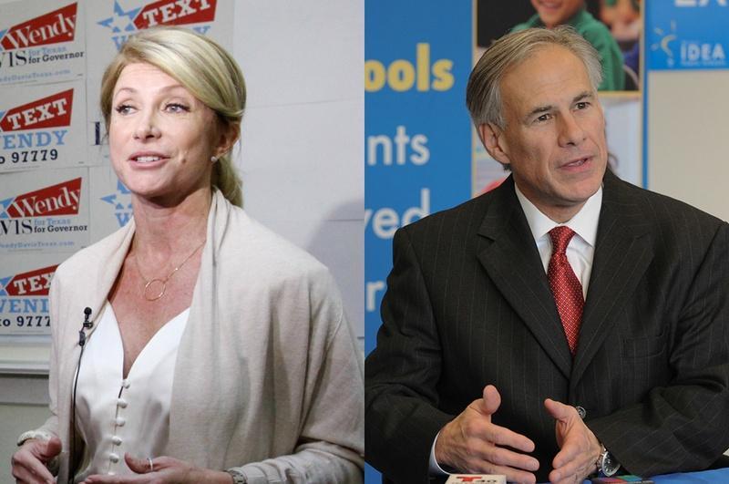 Image result for photos of Gov. Greg Abbott and opponent