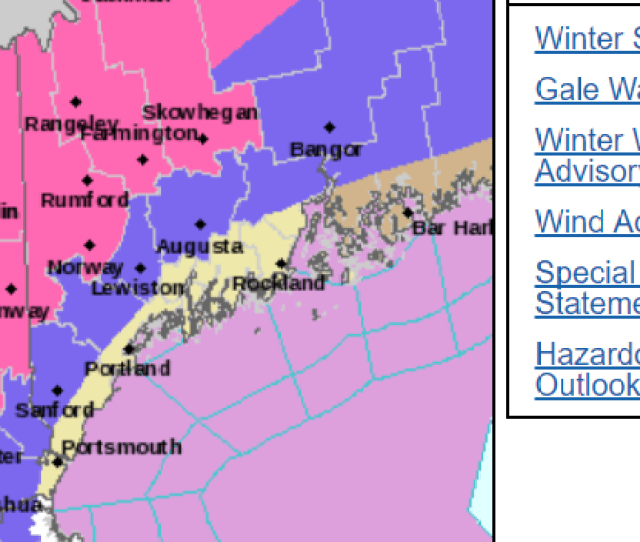 National Weather Service Map For N H On Dec 12