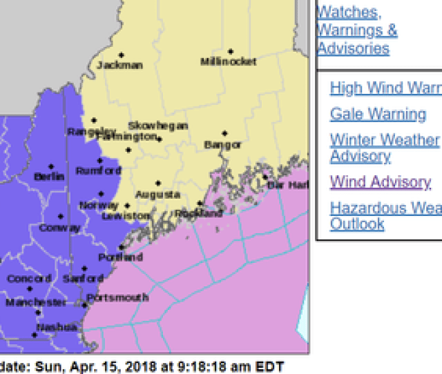 Winter Weather Advisory In Effect For New Hampshire
