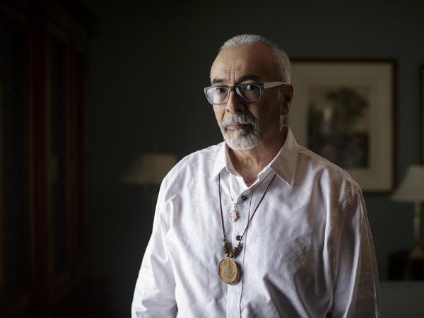 U.S. Poet Laureate Juan Felipe Herrera from his office at the Library of Congress in Washington, D.C.