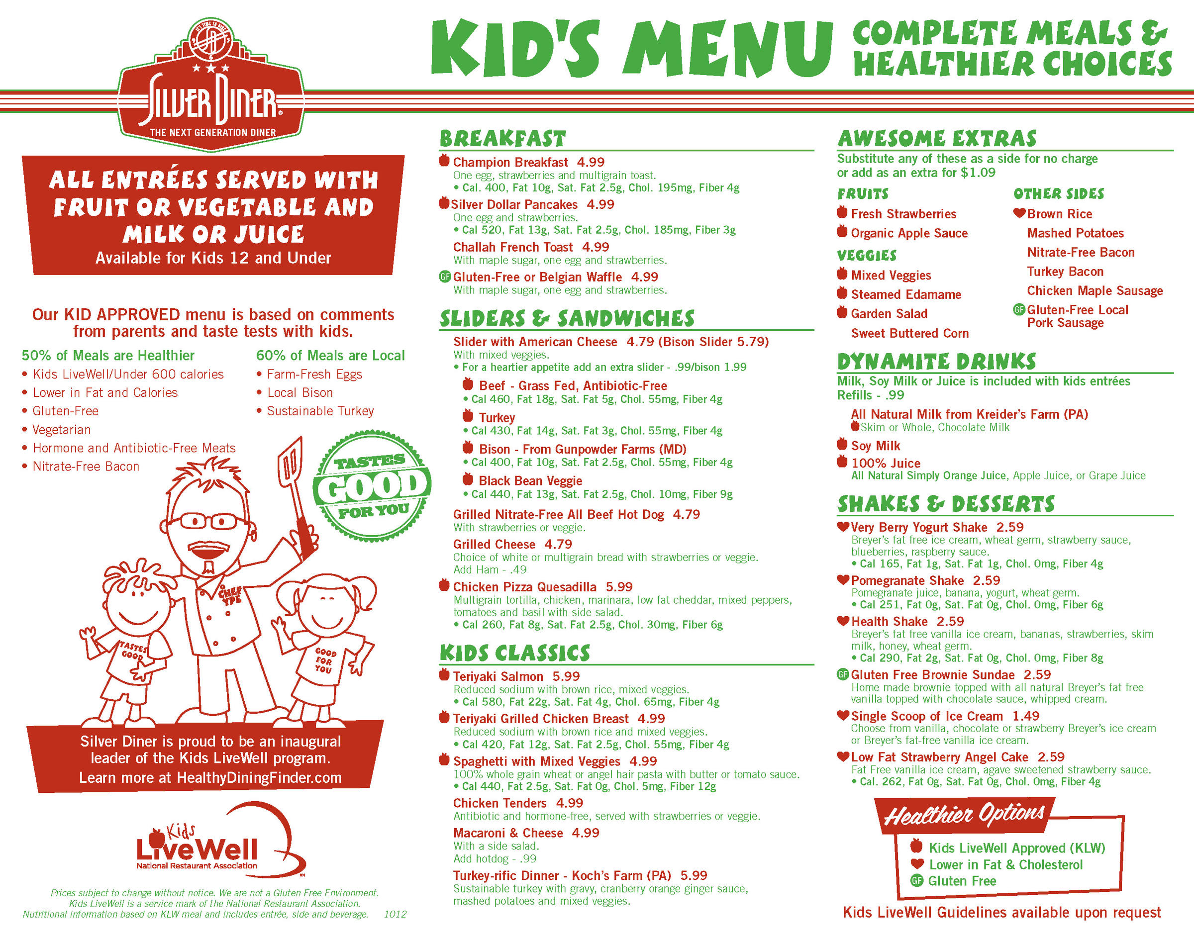 When You Make Kids Meals Healthier By Default They Still
