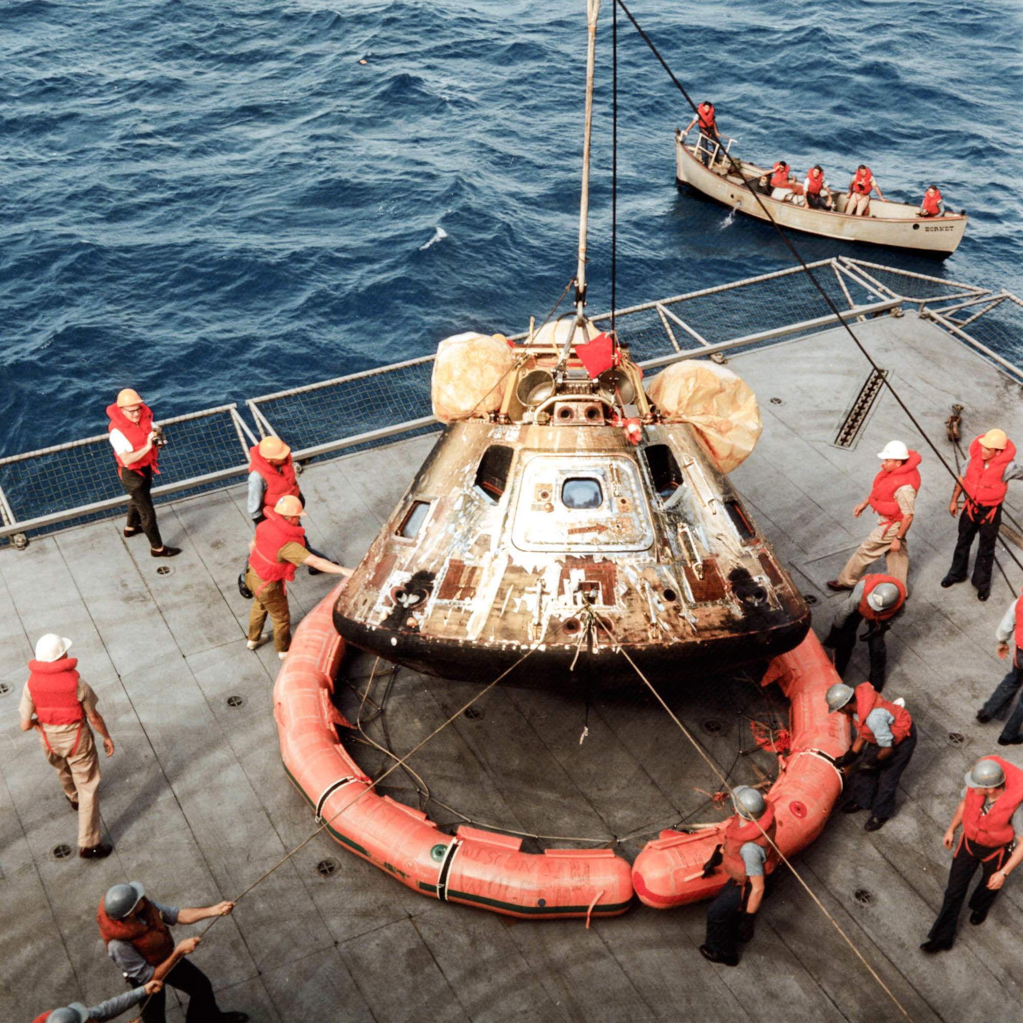 Moonwalkers Apollo 11 Capsule Gets Needed Primping For