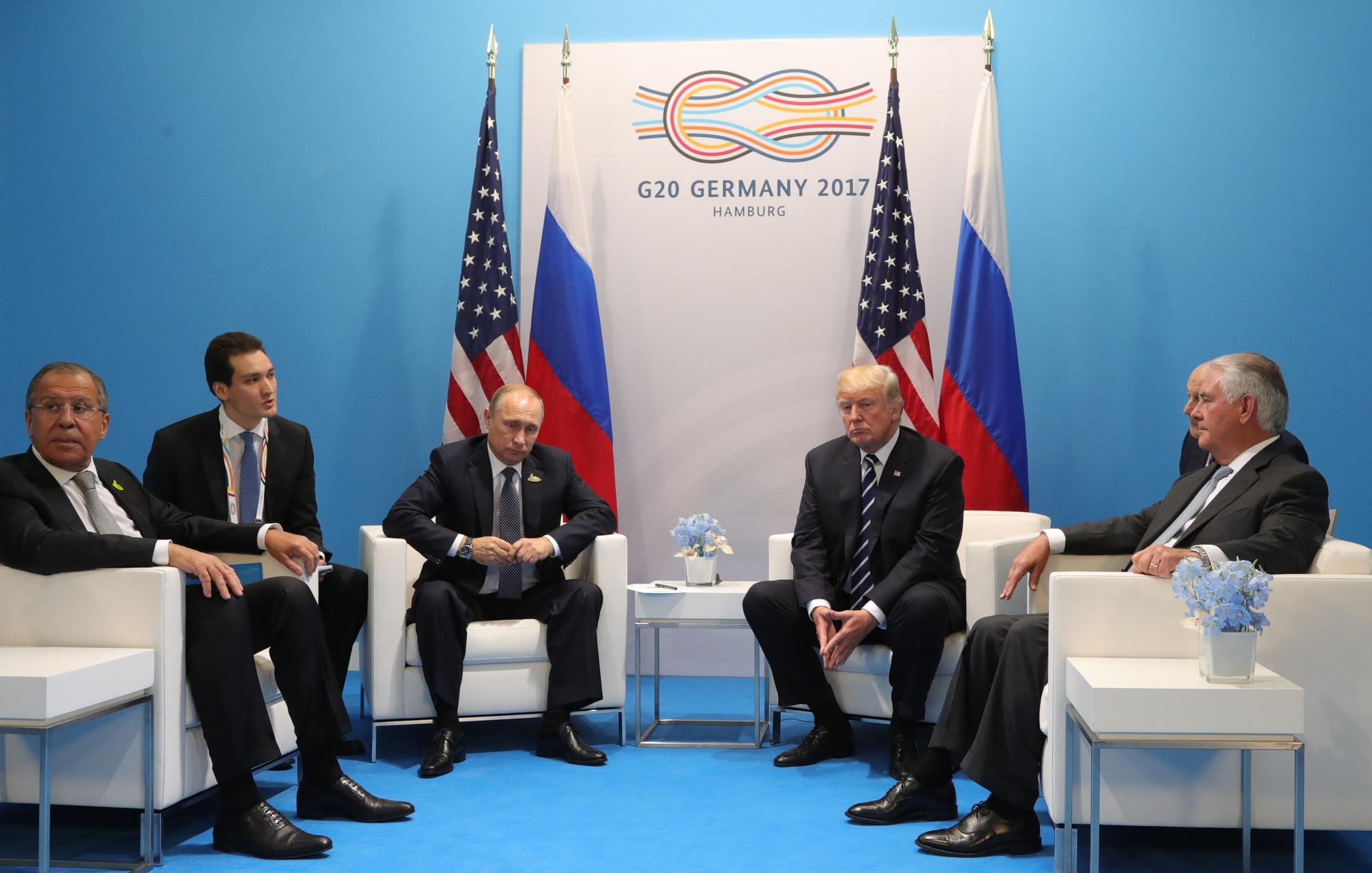 Image result for photos of trump tillerson lavrov at g20 summit