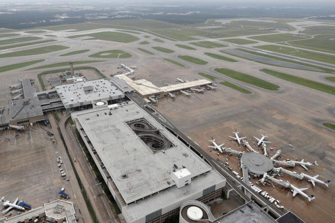 Planes Are Parked At George Bush Intercontinental Airport In Houston On Tuesday The Which Had Been Closed Since Hurricane Harvey Made Landfall
