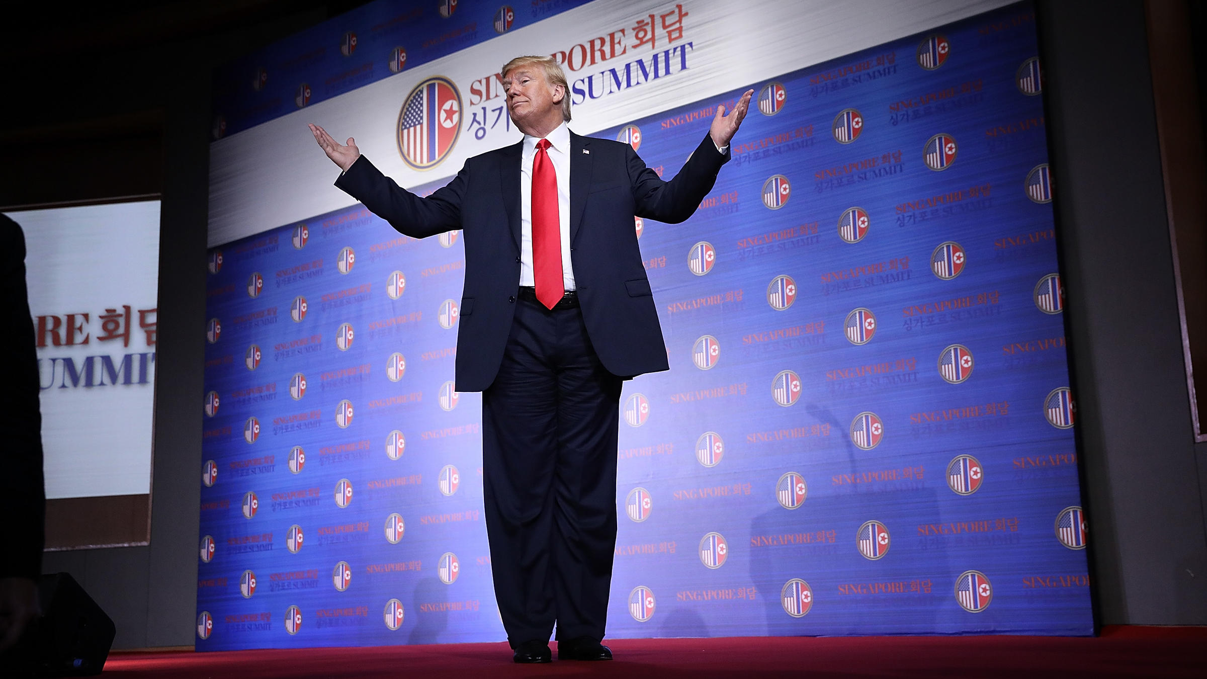 Image result for trump with arms outstretched