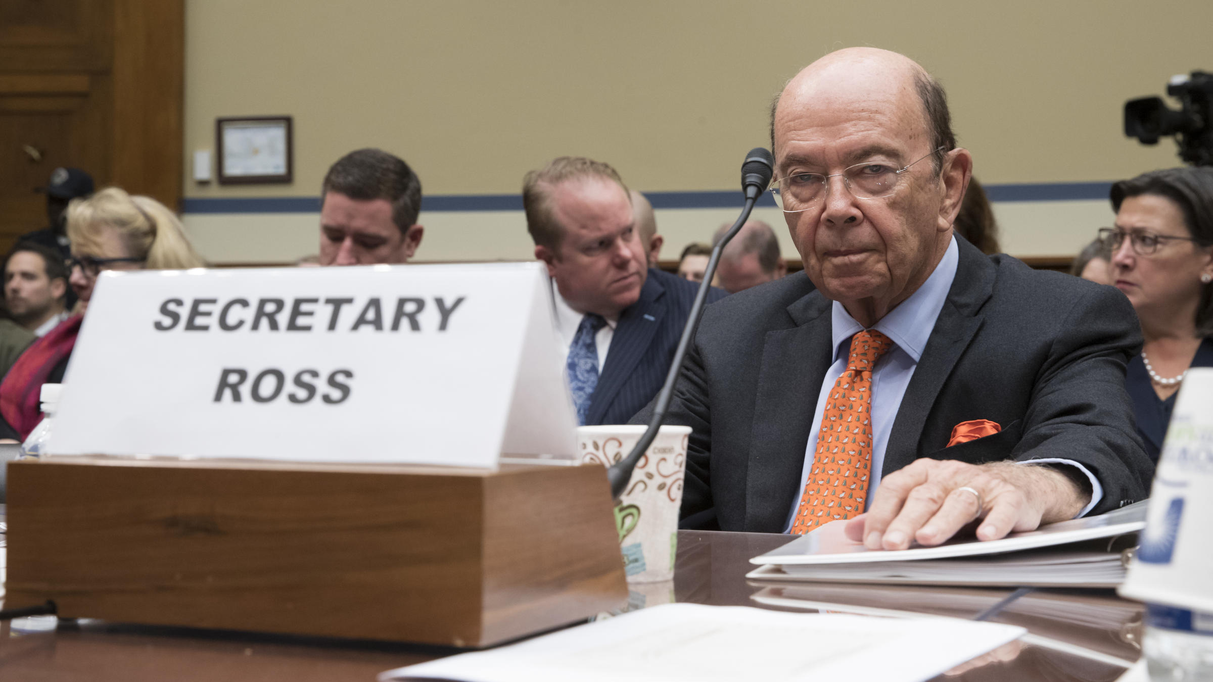 Image result for photos of oversight committee wilbur ross