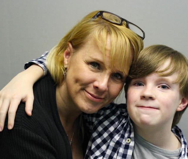 Jennifer Sumner And Her Son Kaysen Ford Embrace At Their Storycorps Interview In 2015 In Birmingham Ala
