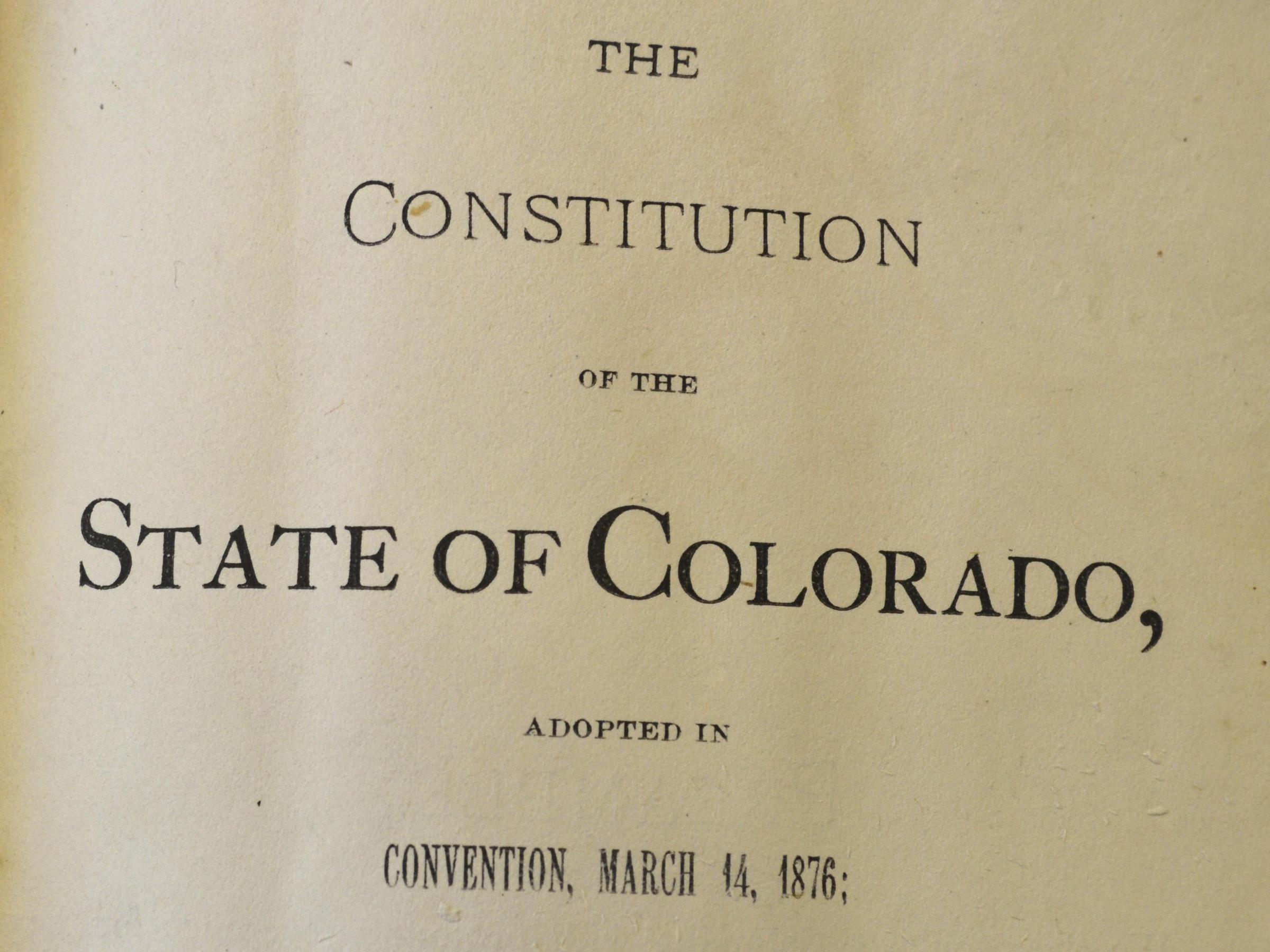 Colorado Votes To Abolish Slavery 2 Years After Similar