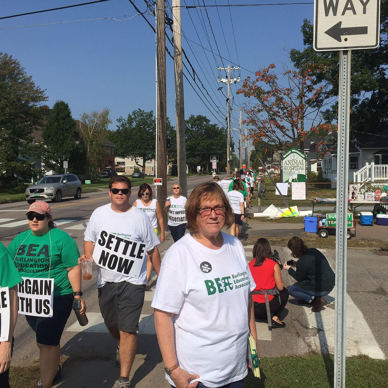 Burlington Teachers Say The Strike Is Not About Salary